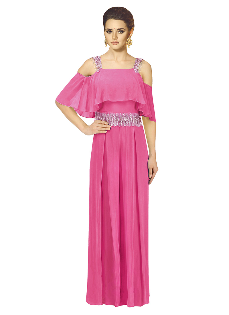 Buy Pink Sequins Work Gown, Sequins, dresses and gown Online ...