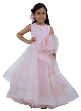 Pink Taffeta Kids Wear