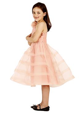 Blush pink Taffeta Silk Kids Dress