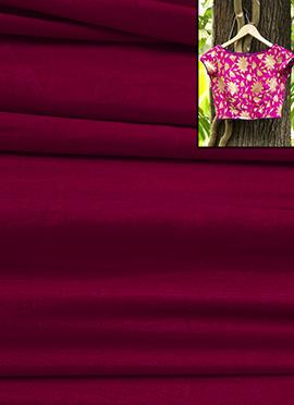 Pink Velvet Blouse Material