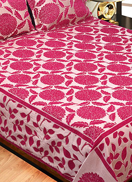 Pink Wool Bed Spread