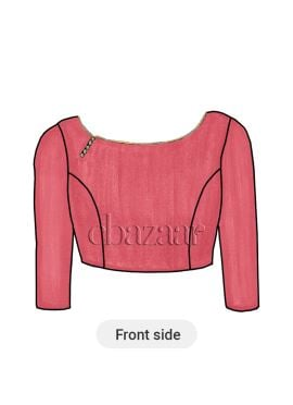 Pink Yarrow Crepe Boat Neck Blouse