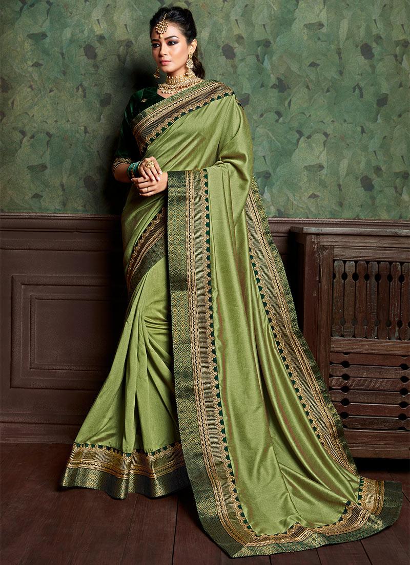 ac80a7814d Buy Pista Green Art Silk Border Saree, Zari , Embroidered, sari Online ...