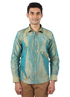 Pista Green Pure Silk Shirt