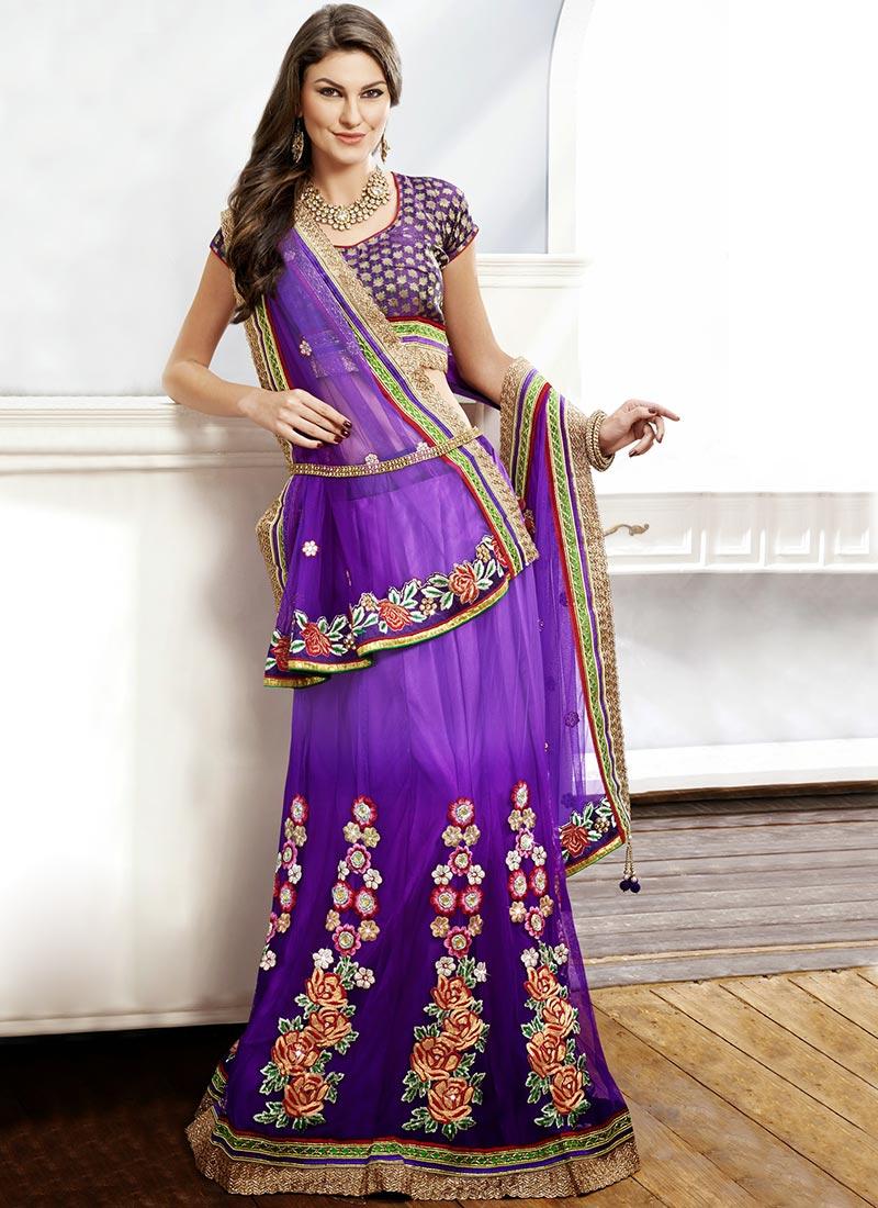 415167d3e9 Buy Pleasing Purple Net A Line Lehenga Choli, Embroidered, a line ...