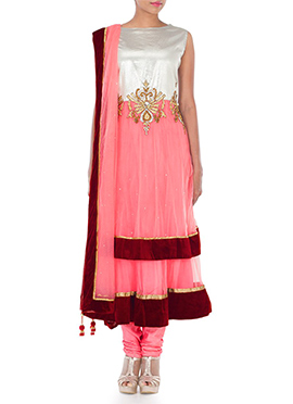 Plus Size Ankle Length Layered Anarkali