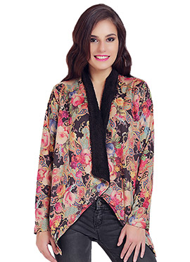 Polyester Multicolored Cardigan