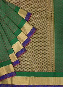 Pothys Dual Shaded Kancheepuram Pure Silk Saree
