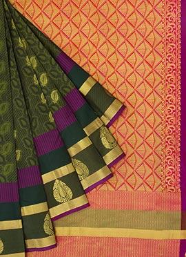 Pothys Green Kancheepuram Pure Silk Saree