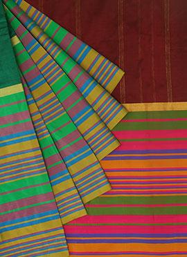 Pothys Green Pure Kancheepuram Silk Saree