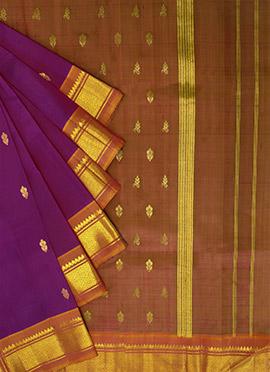 Pothys Magenta Pure Kancheepuram Silk Saree