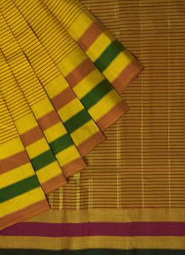 Pothys Mustard Kancheepuram Pure Silk Saree