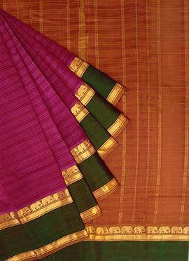 Pothys Pink N Green Pure Kancheepuram Silk Saree