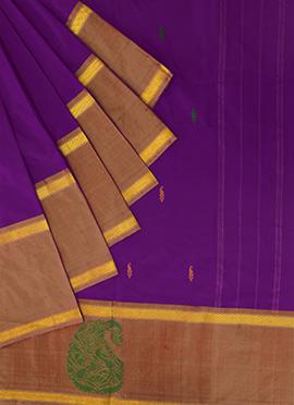 Pothys Purple Art kancheepuram Silk Saree