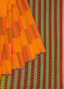 Pothys Yellow Pure Kancheepuram Silk Saree