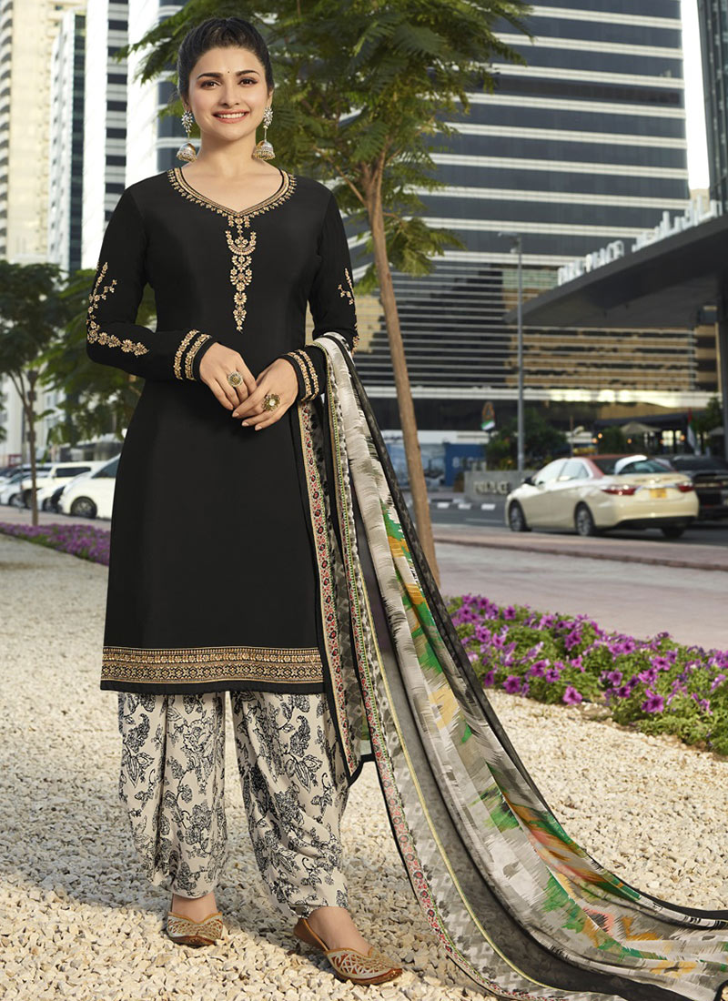 c2c9755fd47 Buy Prachi Desai Black Embroidered Salwar Suit