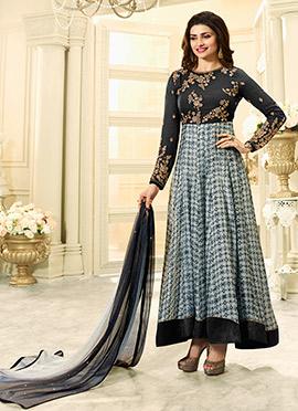 Prachi Desai Black Floor Length Anarkali Suit