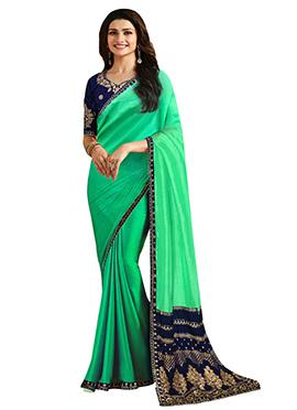 Prachi Desai Green Art Silk Saree