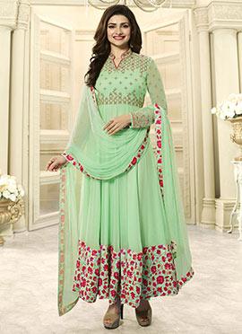 Prachi Desai Green Georgette Anarkali Suit