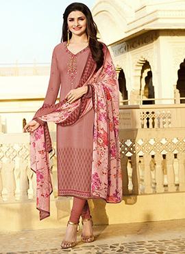 Prachi Desai Mauve Straight Suit
