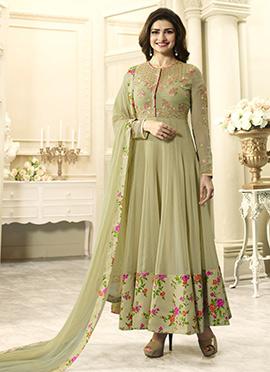 Prachi Desai Sage Green Georgette Anarkali Suit