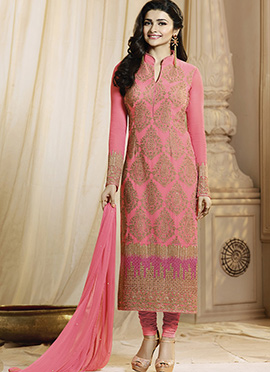 Prachi Desai Pink Straight Suit