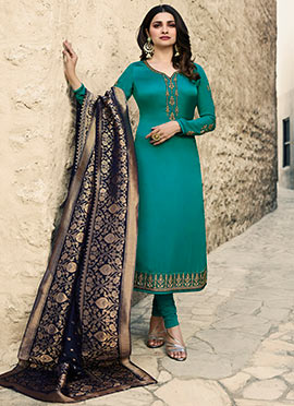 6bfdd4937dd4 Buy Indian Ethnic Wear Turquoise Color Indian Ethnic Wear