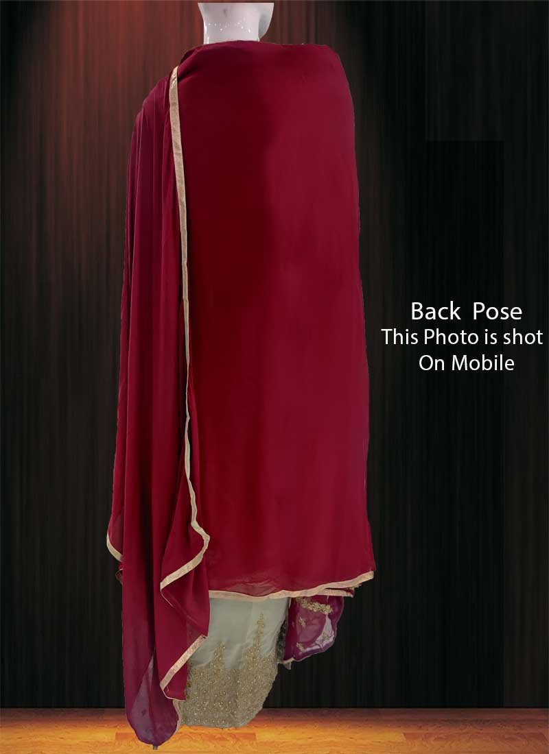 1c4f523d9f9 Buy Maroon Embroidered Palazzo Suit