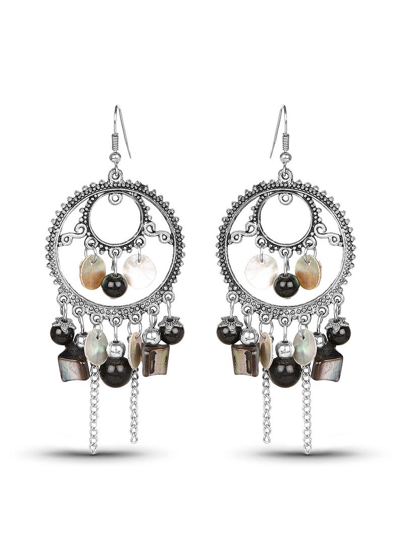 Buy black n silver chandeliers earrings chandeliers online shopping erjjjcje100 - Chandeliers online shopping ...