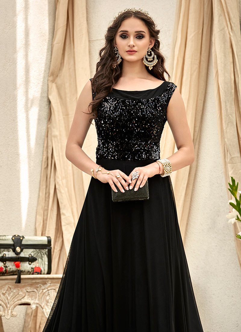 Buy Black Sequins Gown, Sequins, dresses and gown Online Shopping ...