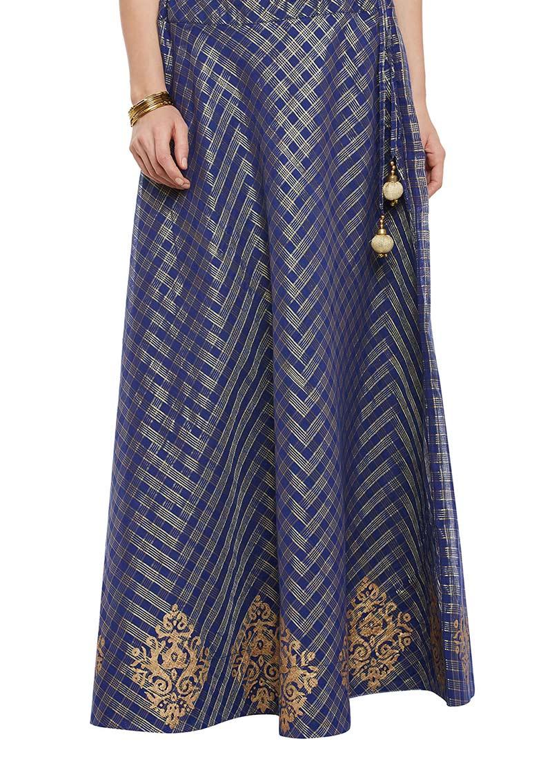 Blue Cotton Skirt 52