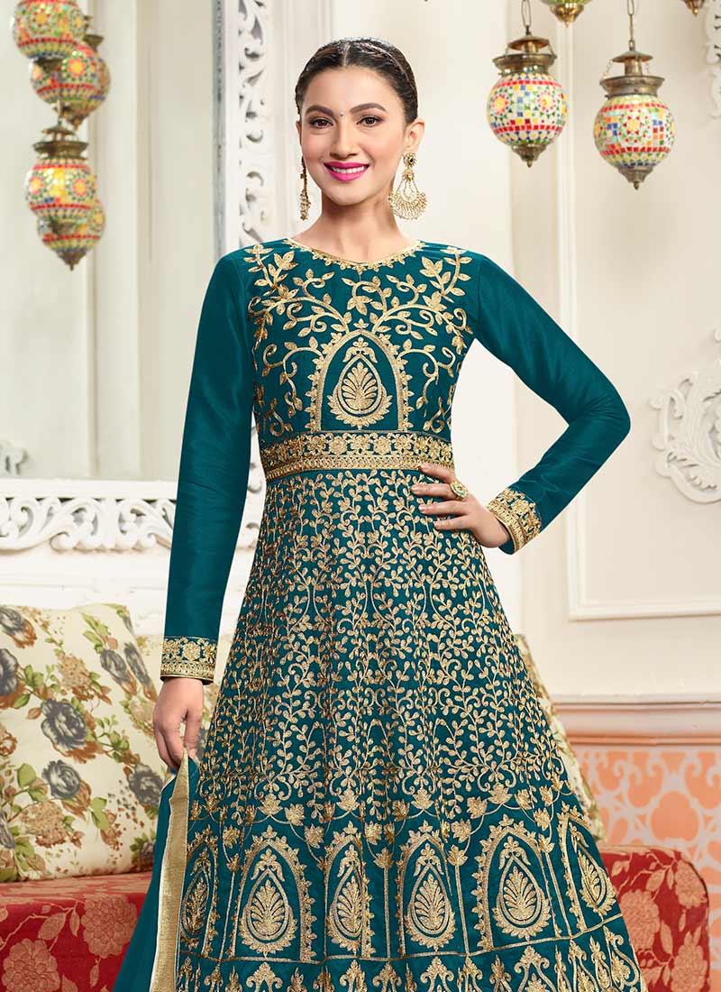 Online Bridal Anarkali Suit | Indian Designer Bridal Salwar Kameez ...