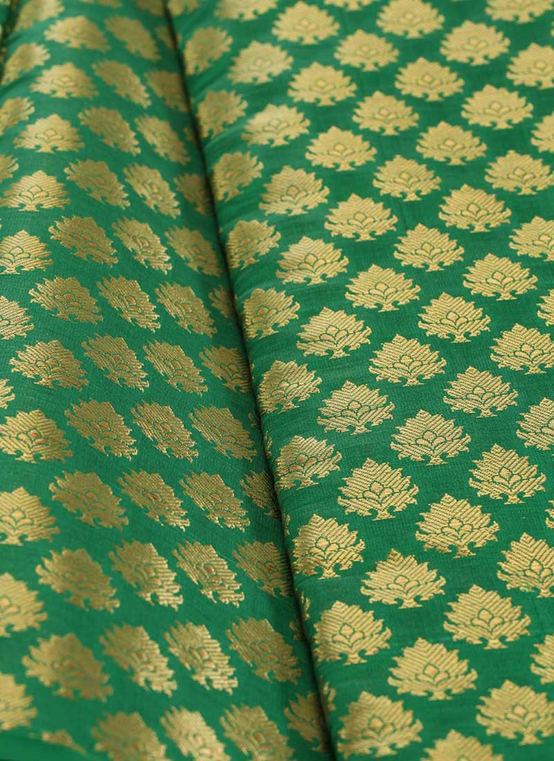 buy green art silk brocade fabric brocade blended