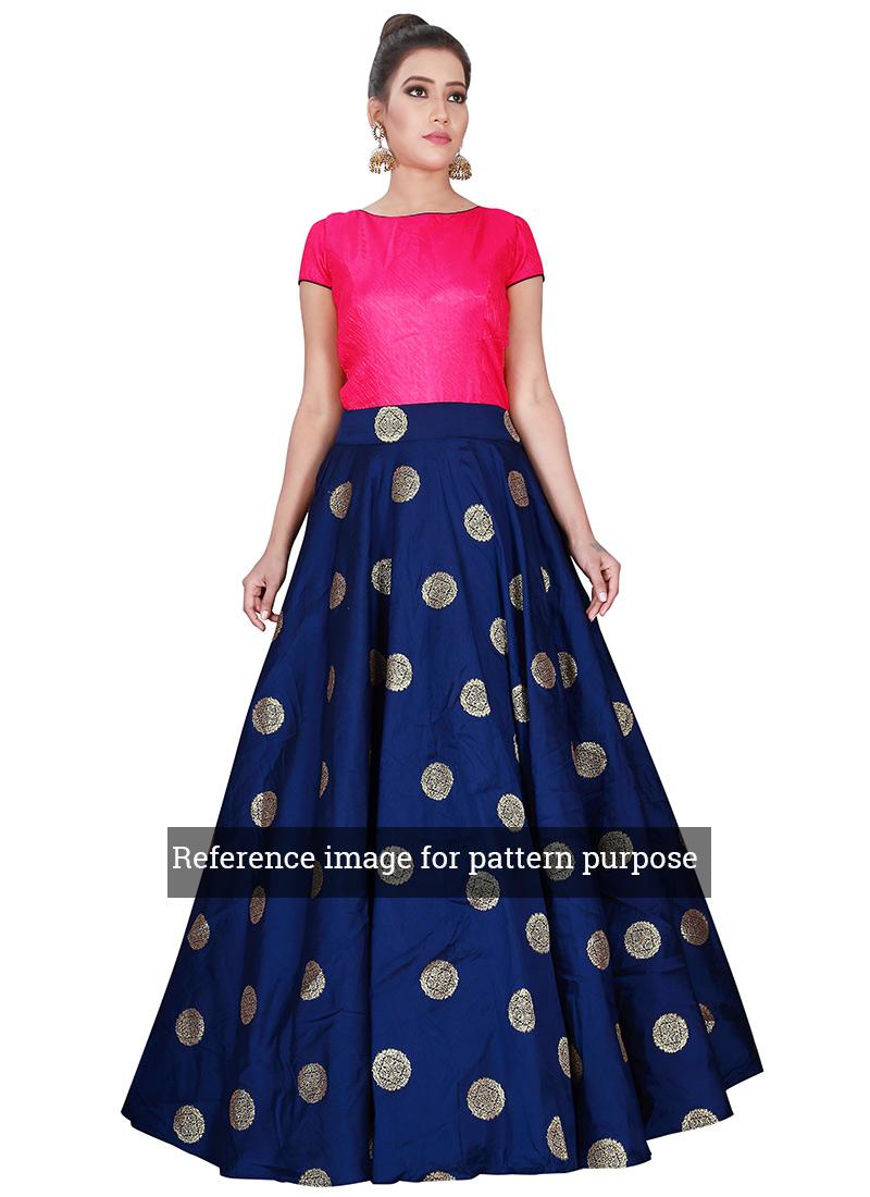 Buy Green N Maroon Highwaisted Skirt N Crop Top, lehenga-fabrics ...