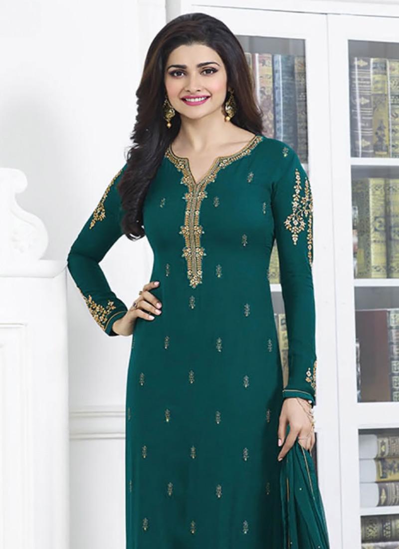 Buy Prachi Desai Green Straight Pant Suit, straight-pant-suit ...