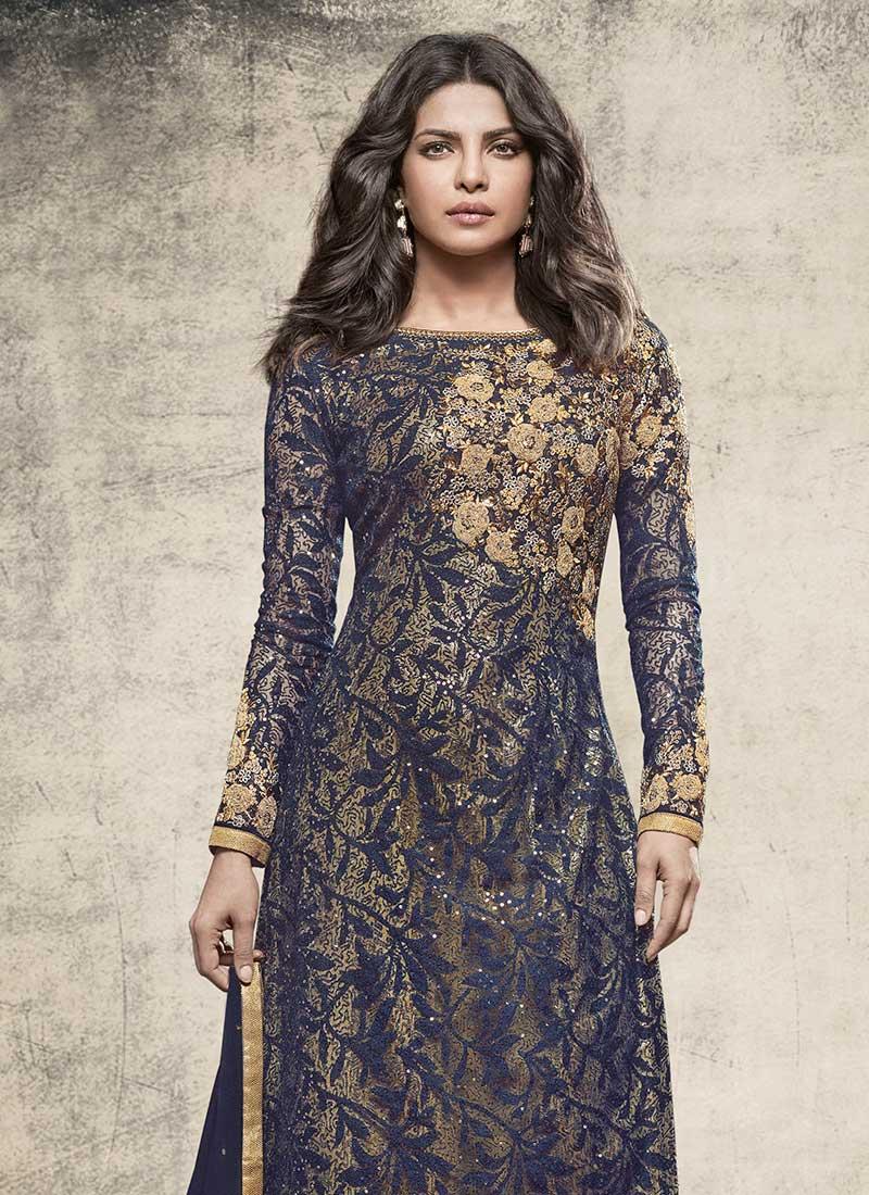 Buy Salwar Kameez Straight Pant Suit For Wedding & Bridal