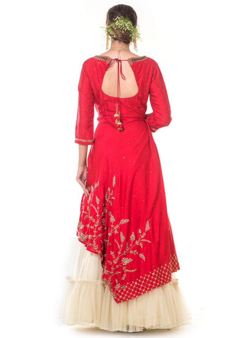 70f4682cbc5 Buy Red Embroidered Skirt Set, Embroidered, kurta skirt set Online Shopping  | IWSUDSALGA494
