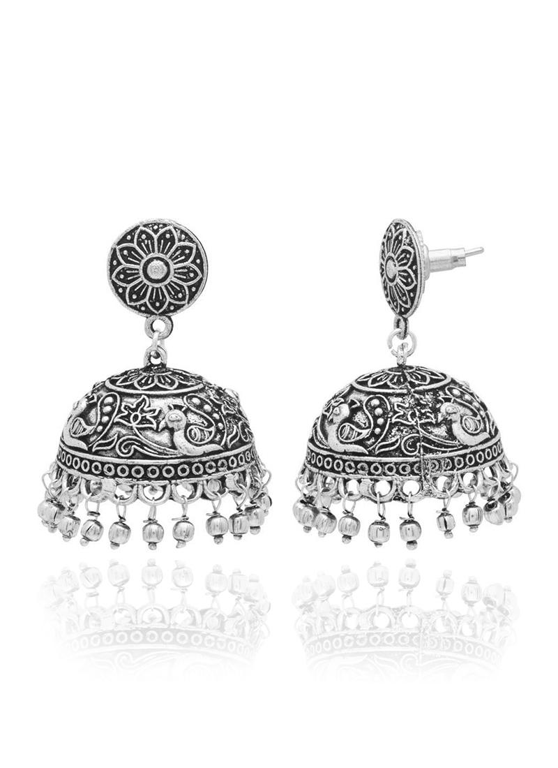 Silver jhumkas online shopping