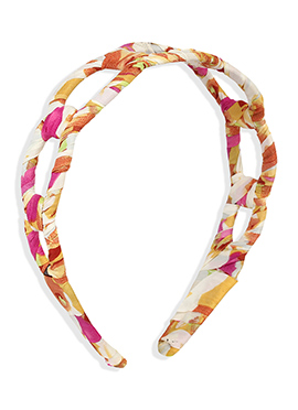 Printed Multicolored Carved Hair Band