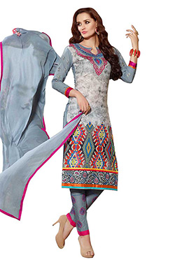 Printed Multicolored Straight Pant Suit