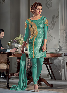 Priyanka Chopra Deep Green Churidar Suit