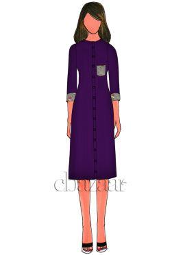 Purple Acai Dupion Silk Kurti