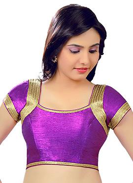 Purple Art Dupion Silk Blouse