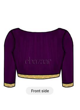 Purple Art Silk Blouse