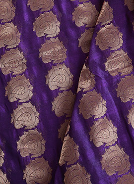 Purple Art Silk Fabric