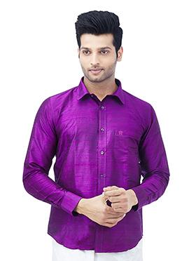 Purple Art Silk Shirt