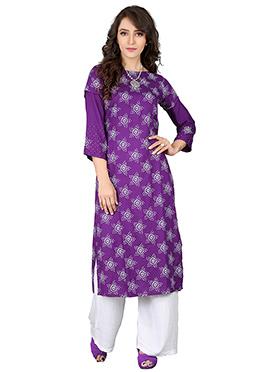 Purple Cotton Kurti