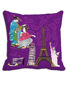 Purple Couple Cushion Cover