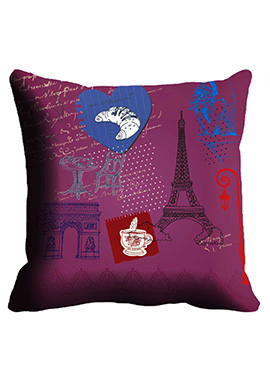 Purple Designer Cushion Cover