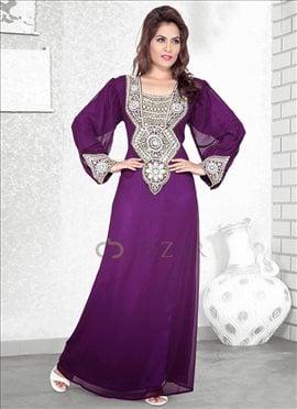 Purple Georgette Fustan